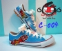 รองเท้าเพ้นท์  ผ้าใบสั้น  C-004